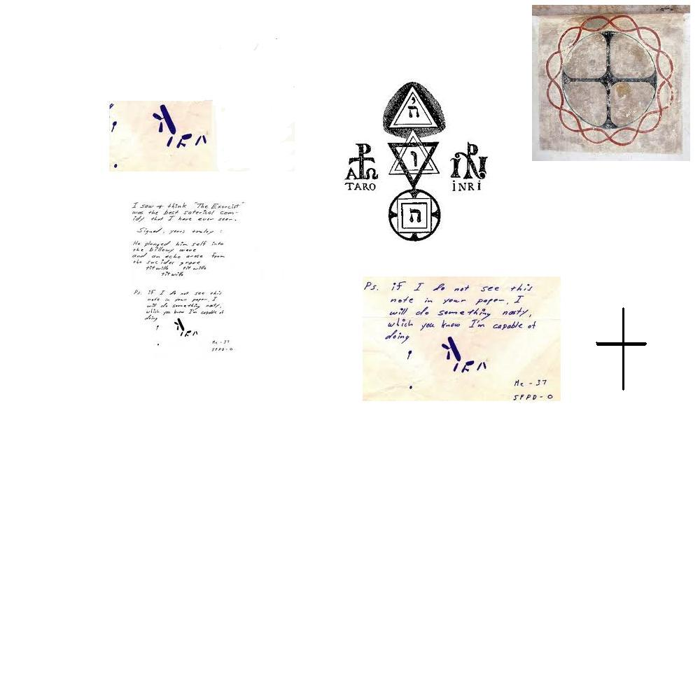 Satanic connection the many faces of the zodiac page 7 in the letters of the words azoth and inri written kabalistically and in the monogram of christ as embroidered on the labarum which the kabalist postel biocorpaavc