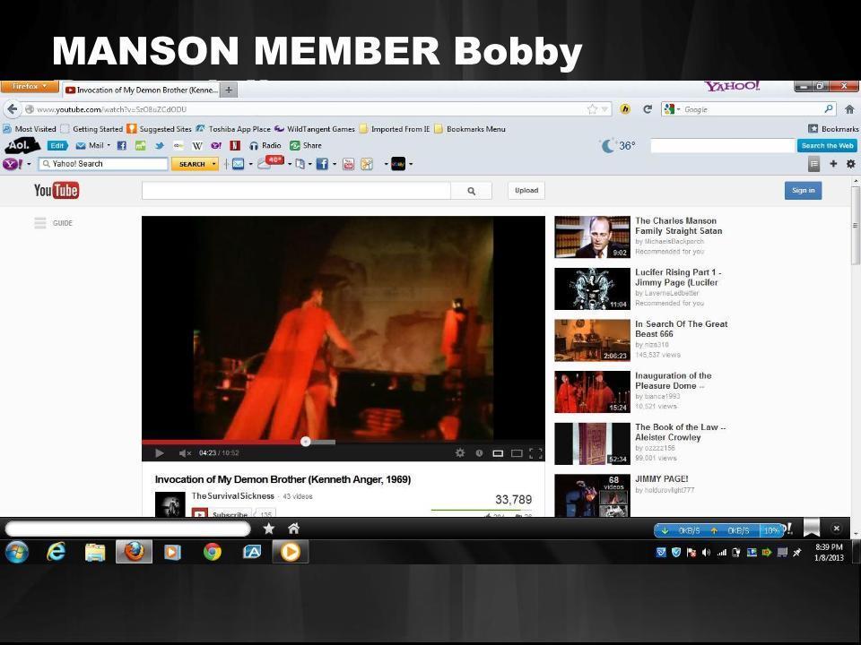 mansonfamily member Bobby