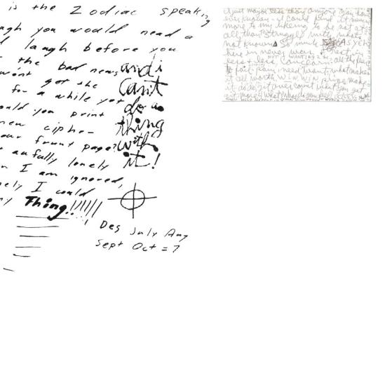 handwriting of manson matches