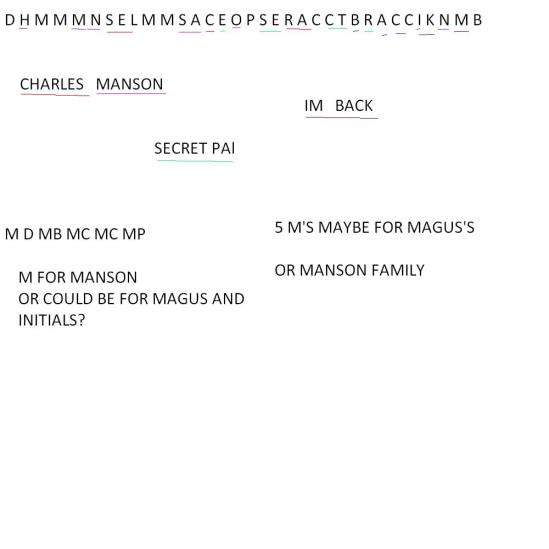 FOUND NAMES IN MANSON FAMILY